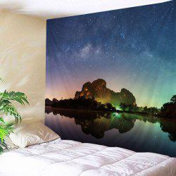 Starry Night Lake Print Tapestry Wall Hanging Art Decoration