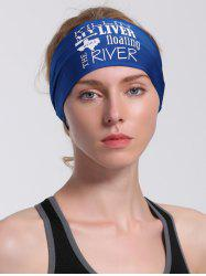 Running Hip Hop Letters Pattern Headband