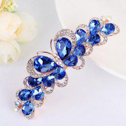 Butterfly Design Faux Gem Inlay Rhinestone Barrette -