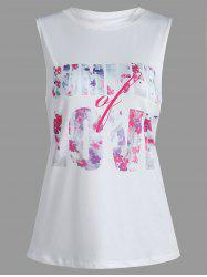 Summer Love Graphic Tank Top - Blanc