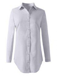 Formal Work Button Up Long Shirt