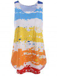 Colorful Splash Ink Print Tank Top