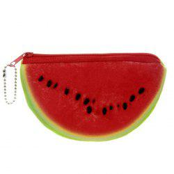 Fruit Print Plush Coin Purse