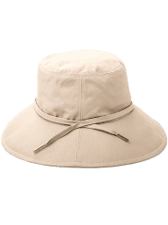 Ribbon Embellkished Sunscreen Bucket Hat