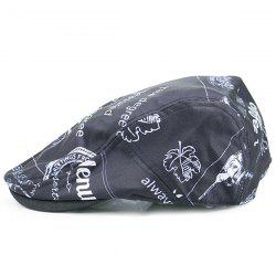 Street Snap Flat Hat with Cartoon Pattern