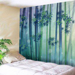 Bamboo Forest Print Tapestry Wall Hanging Art Decoration