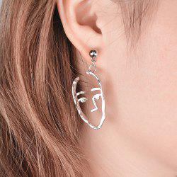 Funny Alloy Face Drop Earrings -