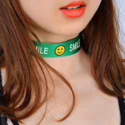 Smile Funny Face Choker Necklace