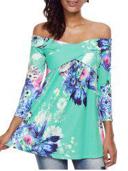 Floral Crisscross Off The Shoulder Top