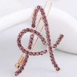 Rhinestone Hollow Out Letter A Hair Clip