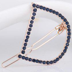 Rhinestone Hollow Out Letter D Hair Clip - DEEP BLUE