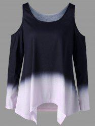 Two Tone Open Shoulder Top
