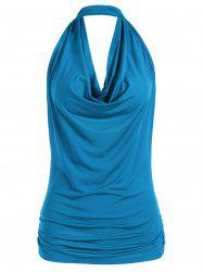 Halter Backless Tank Top - BLUE XL