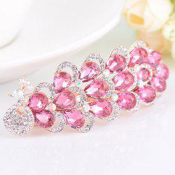 Rhinestone Inlaid Faux Gem Peacock Design Barrette -
