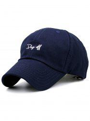 Letters Embroidery Sport Baseball Cap - PURPLISH BLUE