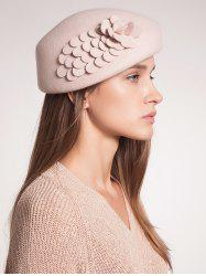 Woolen Flower Design Pillbox Hoop Hat