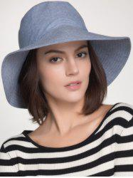 Plain Cotton Blend Bucket Sun Hat