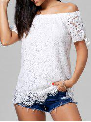 Off The Shoulder Lace Tunic Top