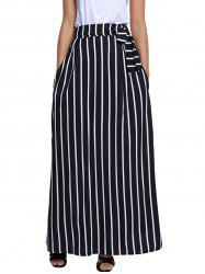Striped Maxi Skirt -