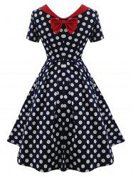 Polka Dot Bowknot Vintage Dress