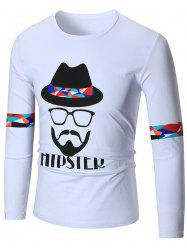 Hipster Graphic Long Sleeve T-shirt