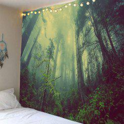 Foggy Forest Waterproof Wall Art Tapestry -