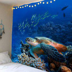 Turtle Ocean Fish Wall Art Tapestry