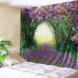 Floral Tree Print Tapestry Wall Hanging Art Decoration -