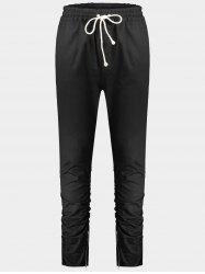 Slim Fit Twill Pants - Noir 2XL