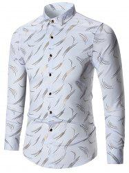 Printed Long Sleeve Plus Size Shirt -