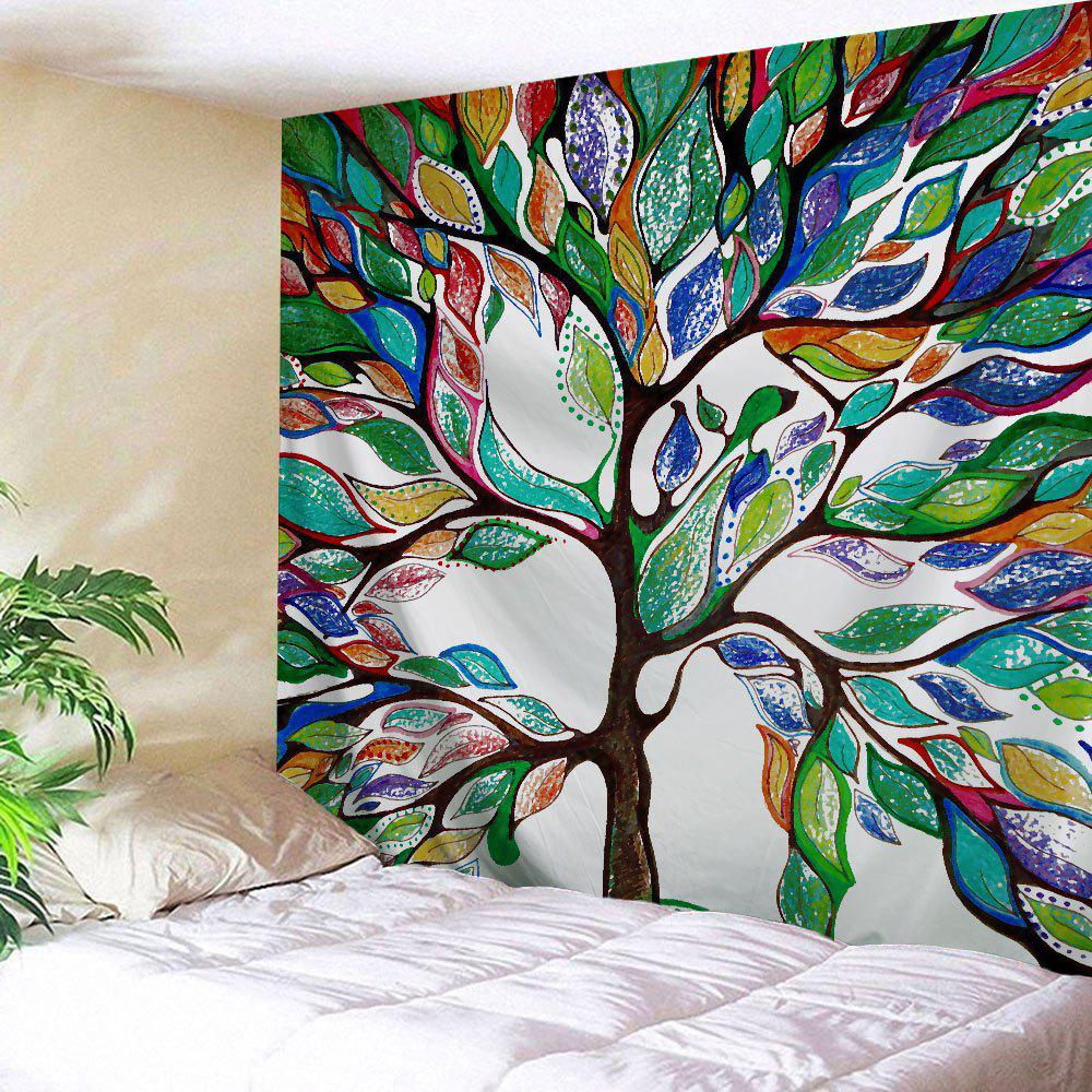 Tree of Life Fabric Dorm Wall Hanging TapestryHOME<br><br>Size: W59 INCH * L79 INCH; Color: COLORMIX; Style: Fresh Style; Theme: Plants/Flowers; Material: Polyester; Feature: Removable,Washable; Shape/Pattern: Print; Weight: 0.2700kg; Package Contents: 1 x Tapestry;