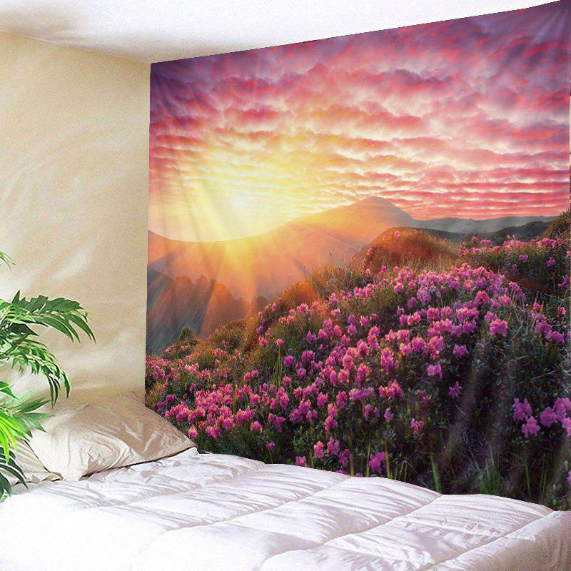 Sunshine Floral Print Tapestry Wall Hanging Art DecorationHOME<br><br>Size: W79 INCH * L59 INCH; Color: TUTTI FRUTTI; Style: Natural; Theme: Florals; Material: Polyester; Feature: Washable; Shape/Pattern: Floral; Weight: 0.4500kg; Package Contents: 1 x Tapestry;