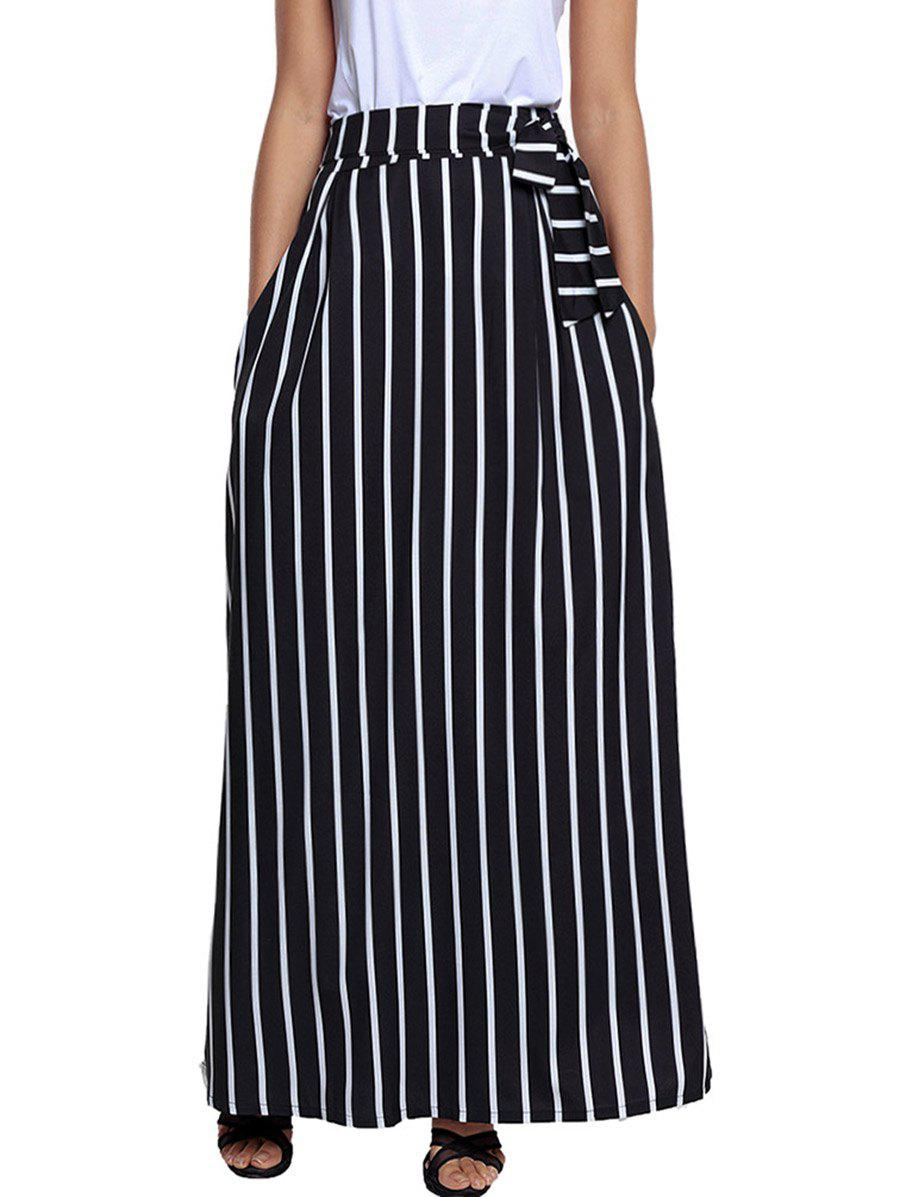 Hot Striped Maxi Skirt