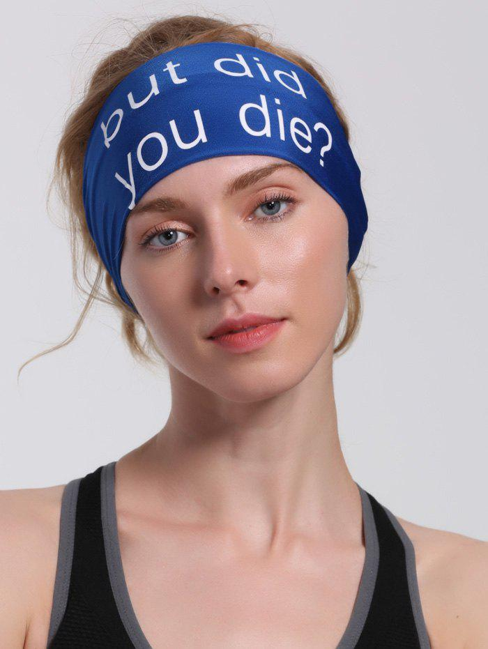 Hip Hop Sentence Printing HeadbandACCESSORIES<br><br>Color: BLUE; Headwear Type: Headband; Group: Adult; Gender: Unisex; Style: Fashion; Pattern Type: Letter; Shape/Pattern: Letter; Material: Acrylic; Weight: 0.0100kg; Package Contents: 1 x Hairband;