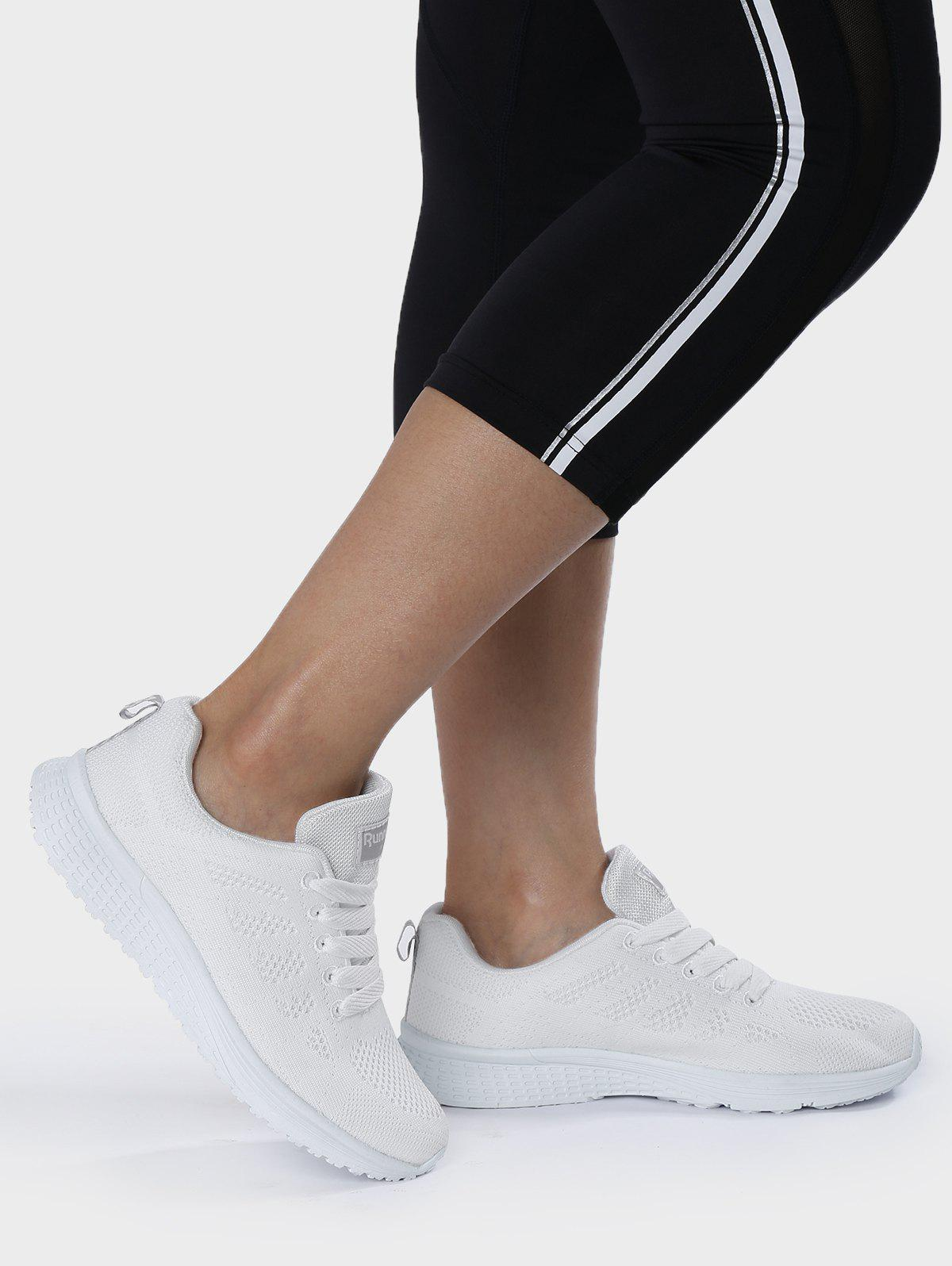 Fancy Breathable Eyelet Embroidery Athletic Shoes