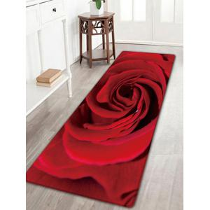 Rose Print Skidproof Flannel Area Rug