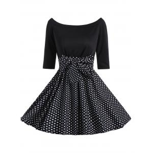 Polka Dot Off The Shoulder Mini Dress