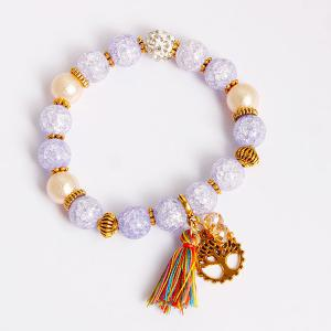 Tassel Tree of Life Charm Beaded Bracelet