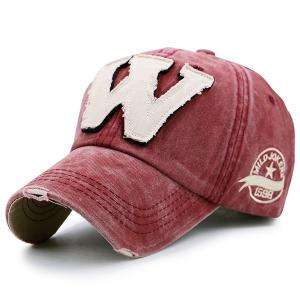 Letter W Shape Make Old Baseball Hat