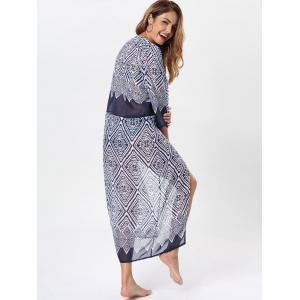 Bohemia Rhombus Print Maxi Cover Up -