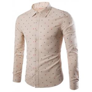 Long Sleeve Sailboat Print Shirt