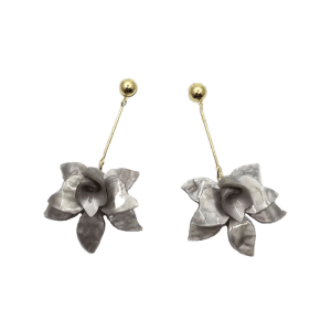 Stereo Floral Shape Pendant Drop Earrings