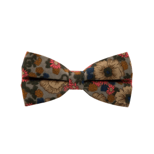 Cotton Blend Tiny Floral Pattern Bow Tie -