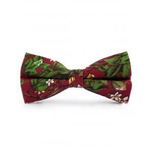 Cotton Blend Tiny Floral Pattern Bow Tie