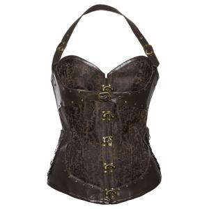 Halter Neck Steampunk Corset Top