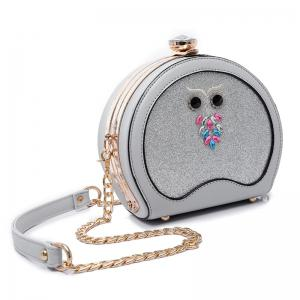 Sac Crossbody Sequined de hibou - Argent
