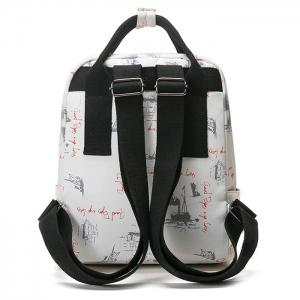 Nylon Printed Backpack - APRICOT