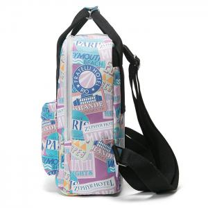 Nylon Printed Backpack -