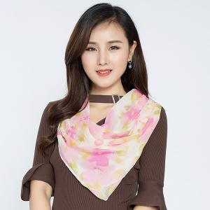 Lightsome Gossamer Watercolour Flowers Pattern Scarf - PINK
