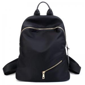 Zips Nylon Top Handle Backpack - Black - Xl